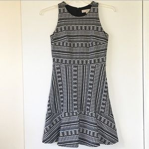 LOFT Textured Fit and Flare Dress